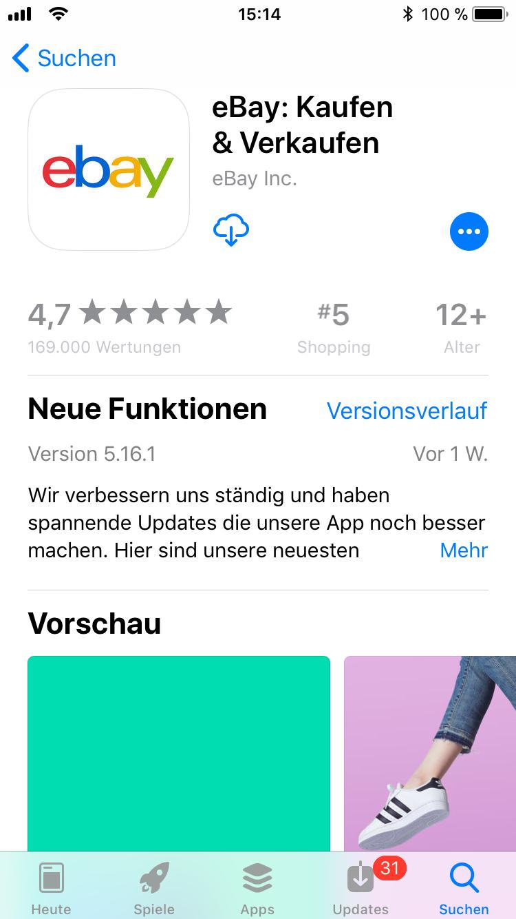iPhone-Apps Auswahl eBay
