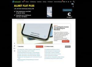Screenshot netzwelt.de