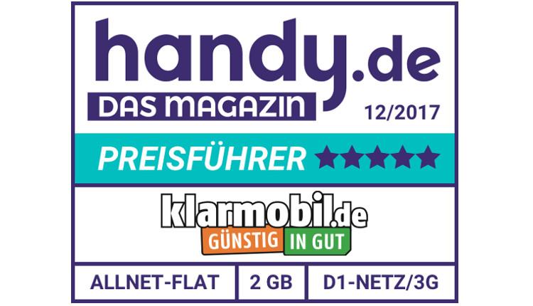 handy.de Magazin - Tarifsiegel - Klarmobil