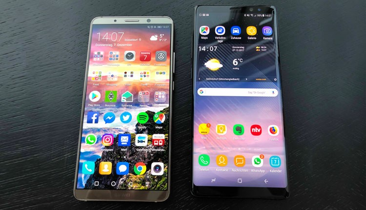 Galaxy Note 8 vs. Mate 10 Pro