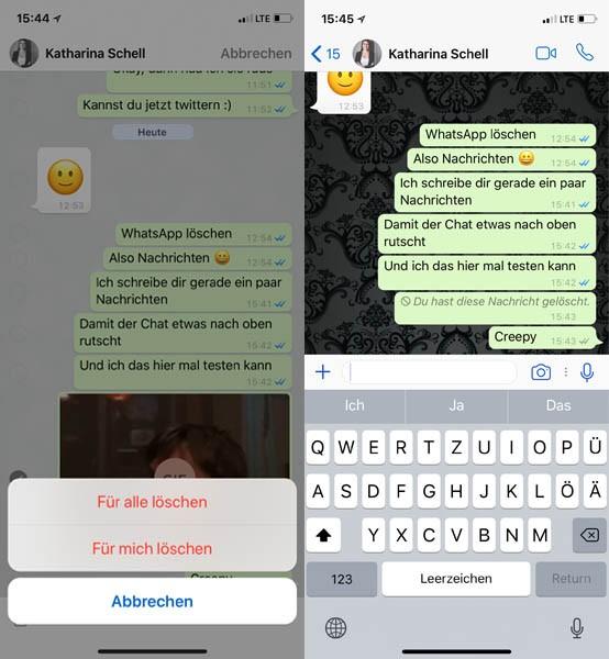 Whatsapp Nachrichten Auch Nach Stunden Löschen So Gehts Handyde
