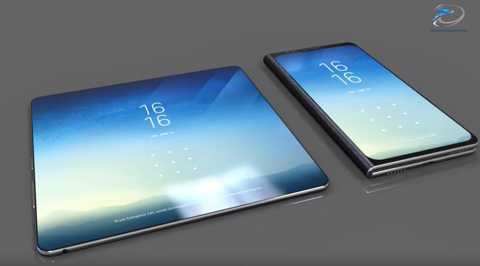 Das Samsung Galaxy Fold - so könnte es aussehen