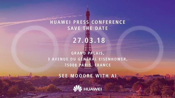 Huawei P20 Einladung Englisch