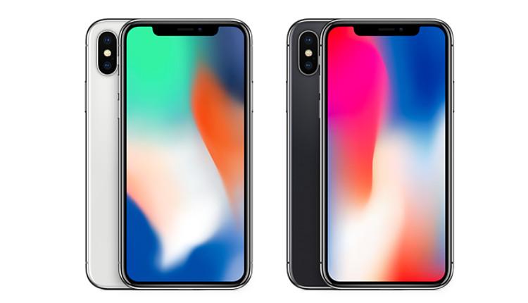 iPhone X Silber und Space Grau