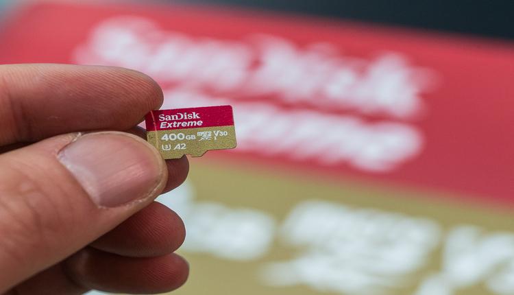 Sandisk MicroSD karte 400 GB header