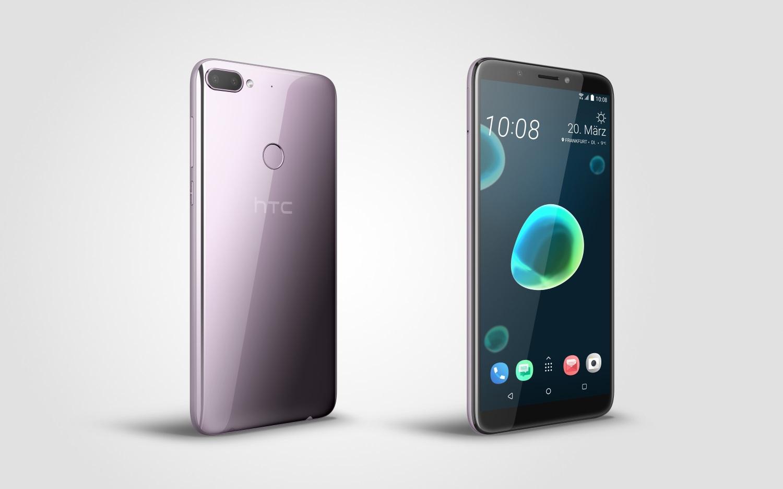 HTC Desire 12+ in der Farbe Warm Silver