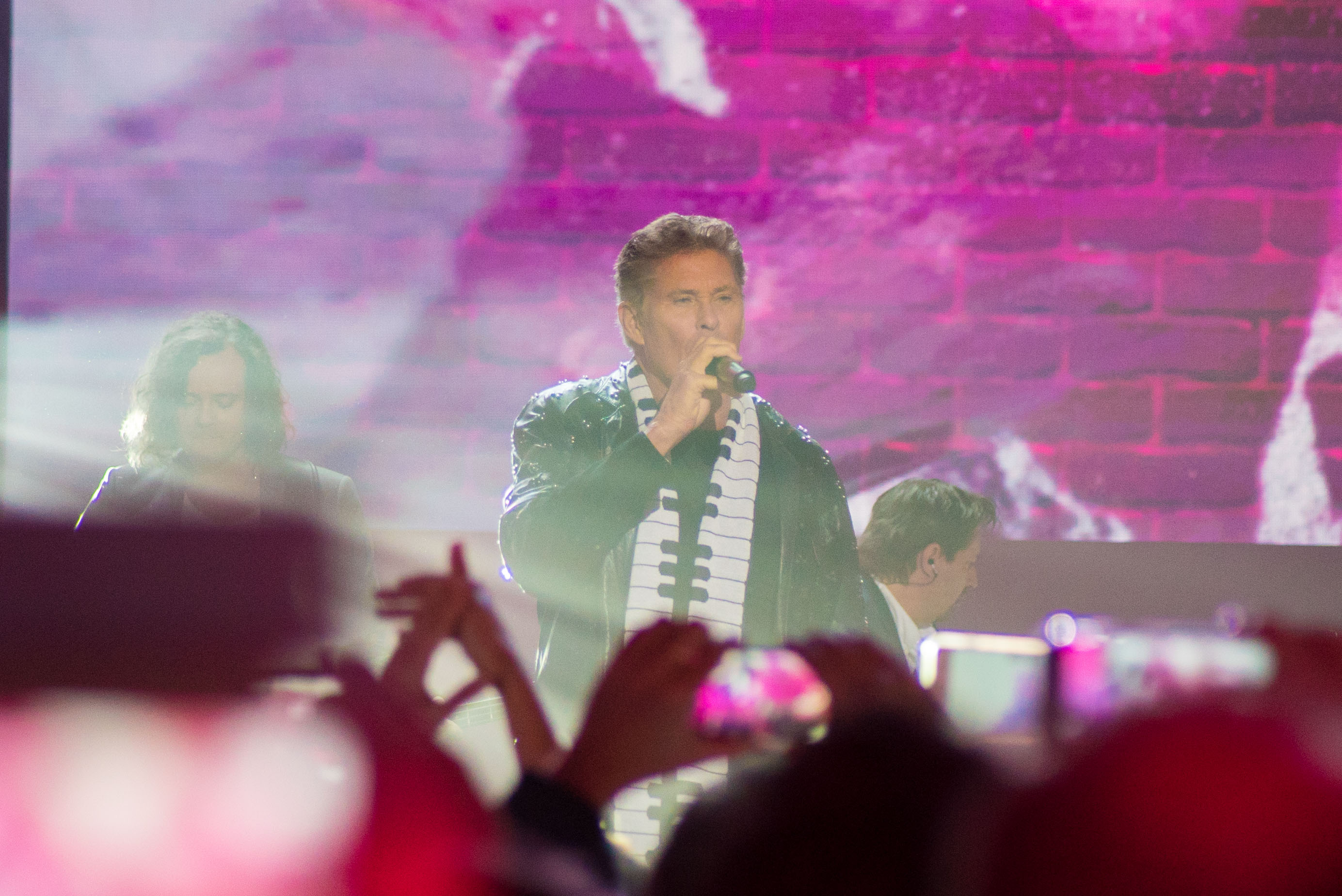 David Hasselhoff beim Telekom-Event