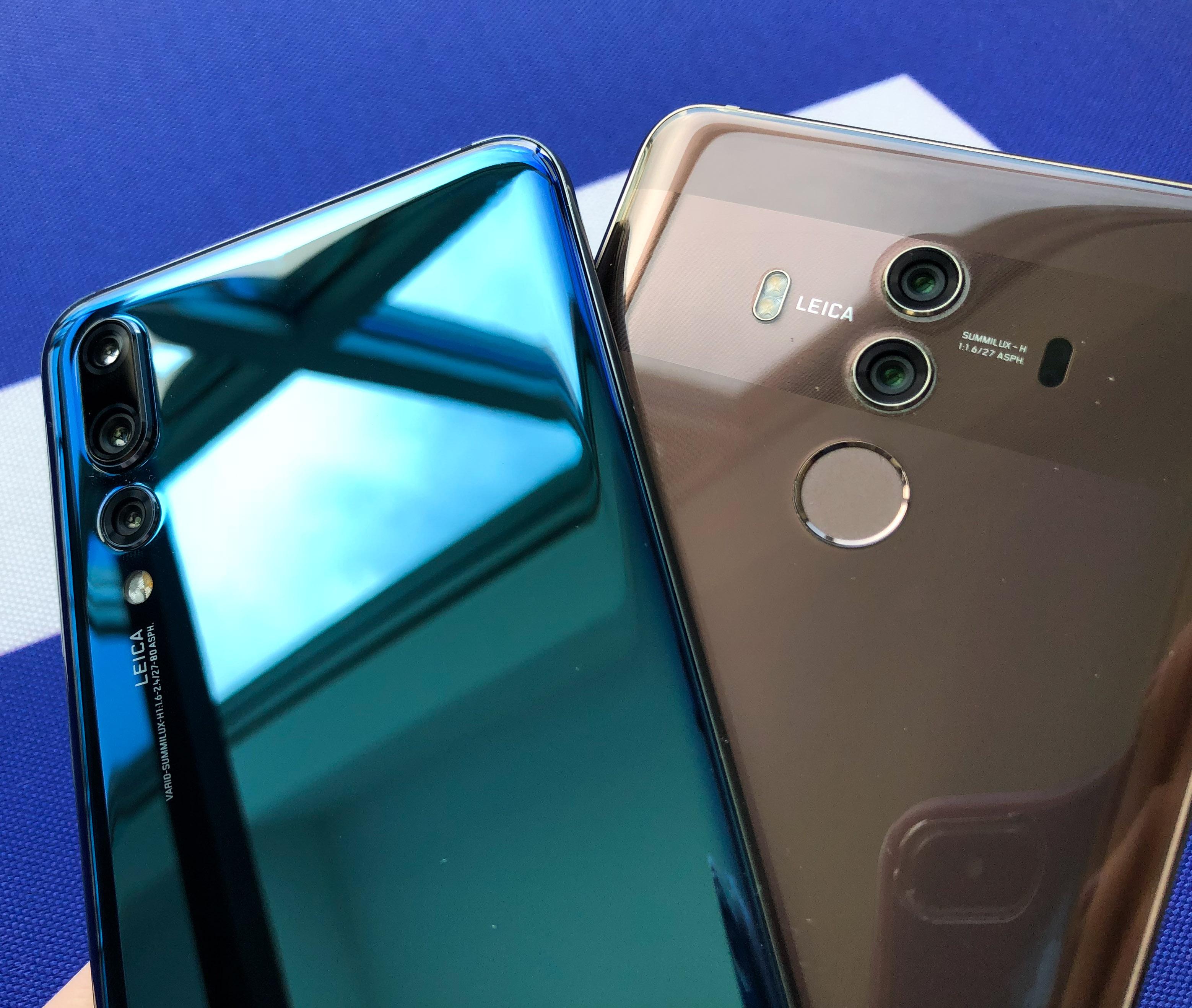 Mate 10 Pro vs. P20 Pro: Beide Telefone sind definitiv Blickfänger.
