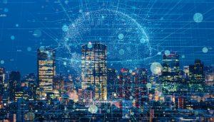 Symbolbild Mobilfunknetz in einer Großstadt