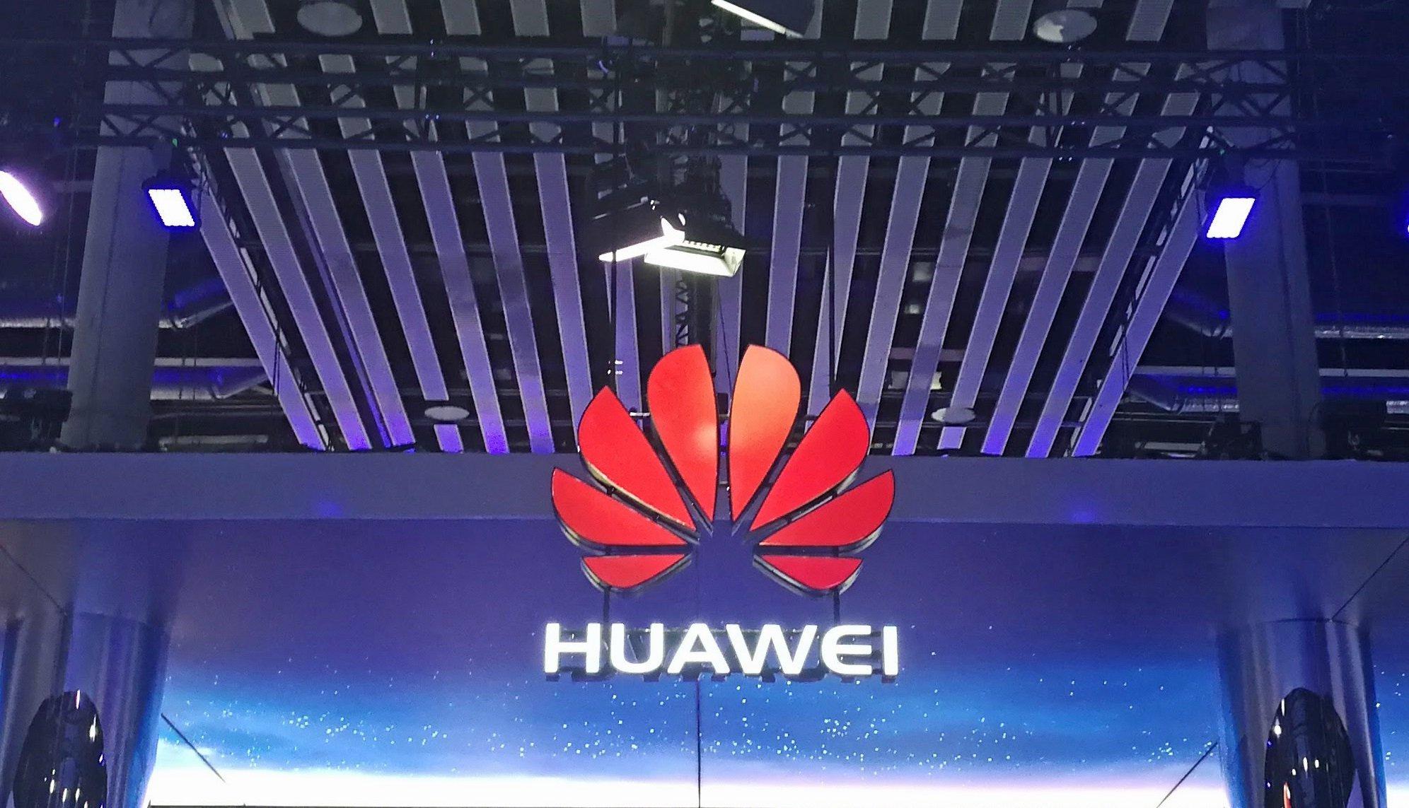 Huawei-Logo auf dem MWC