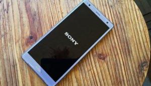 Sony-Symbol beim Xperia XZ2