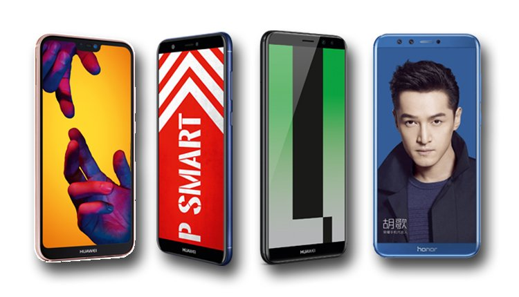 Huawei P20 lite, P smart, Mate 10 lite und Honor 9 lite im Vergleich