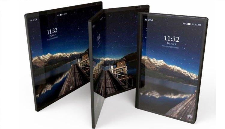Samsung Galaxy Fold Konzept-Bild