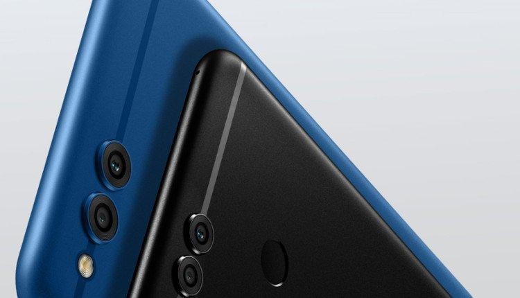 Rückseite des Honor 7X in Schwarz und Blau
