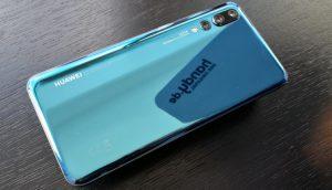 Rückseite des P20 Pro von Huawei in Blau