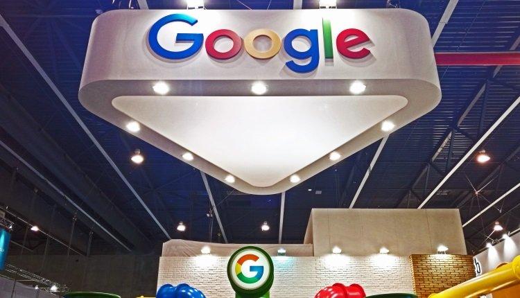 Google-Logo auf dem MWC