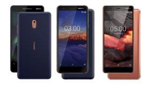 HMD Global stellt drei neue Smartphones vor: Nokia 2.1, Nokia 3.1 und Nokia 5.1