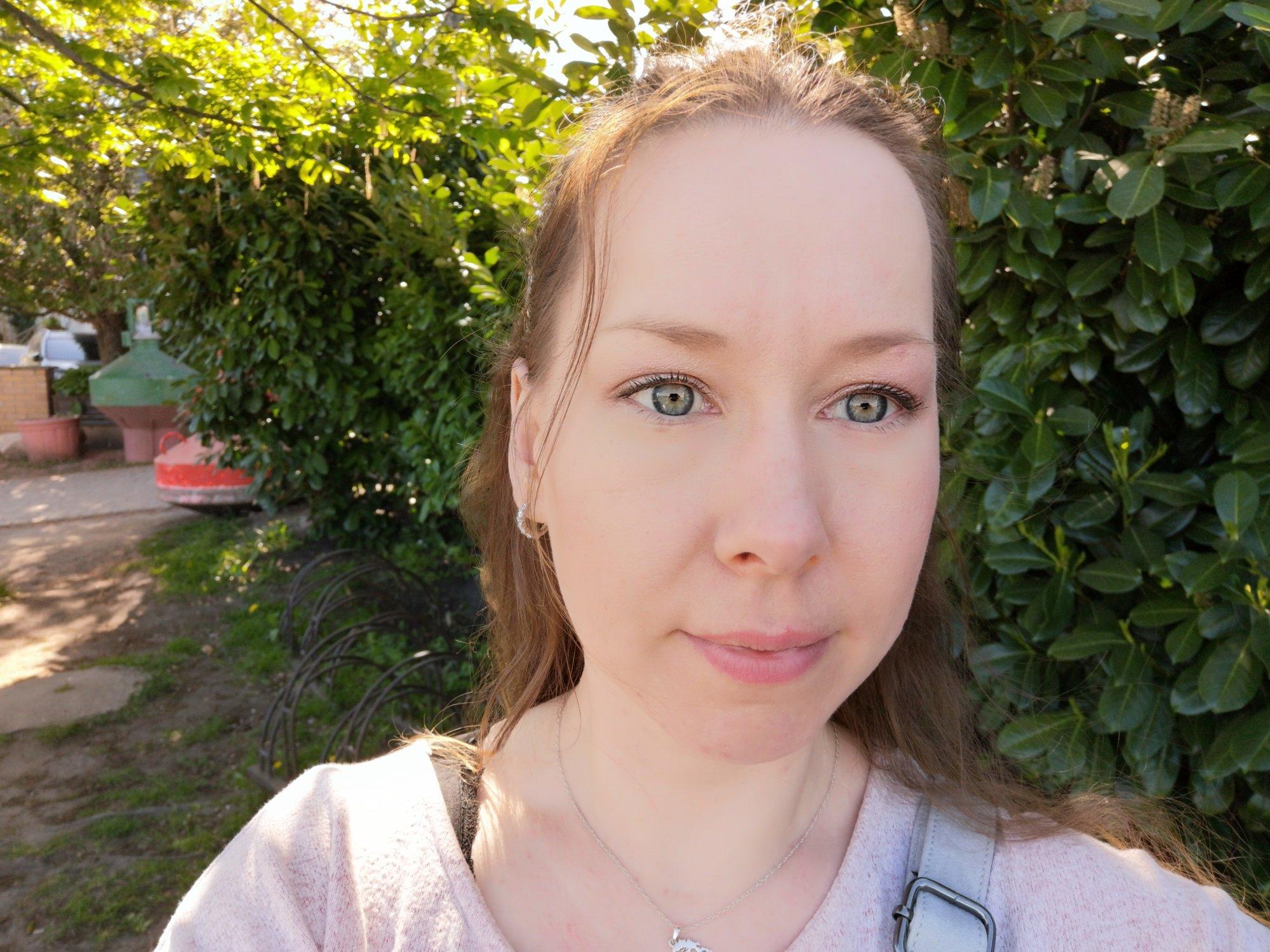 Selfie-Aufnahme ohne speziellen Modus mit dem Huawei P20