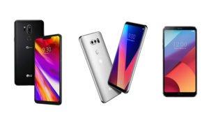 LG G7 ThinQ, LG V30 und LG G6 im Vergleich