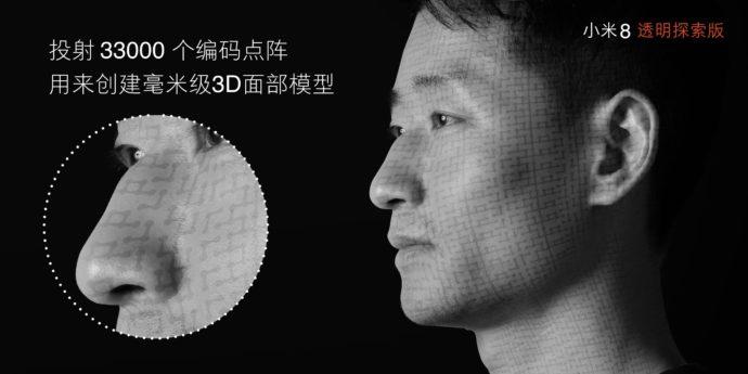 Xiaomi Mi 8 Gesichtserkennung Laser Infrarot