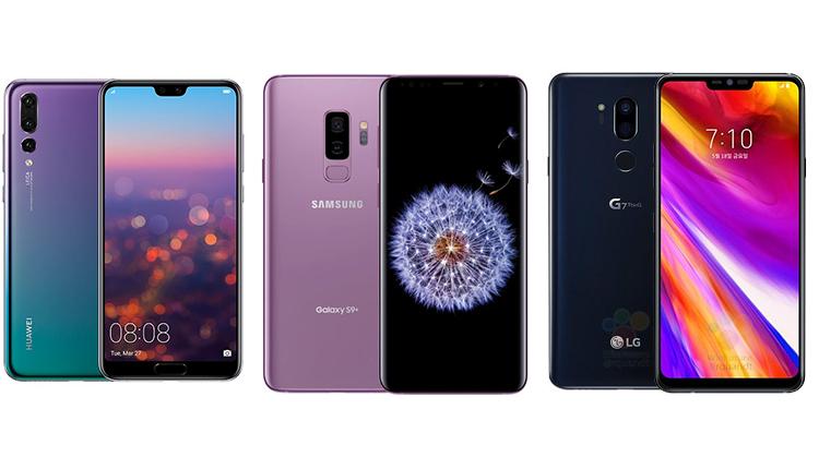 Huawei P20 Pro vs. LG G7 ThinQ vs Samsung Galaxy S9+