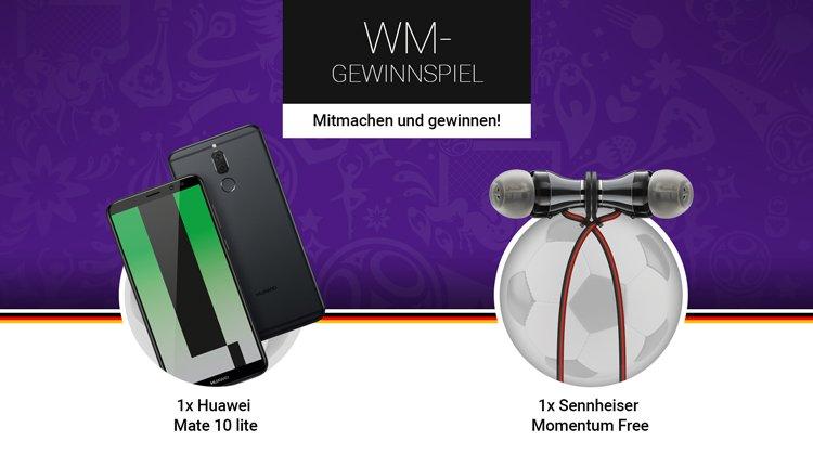 handy.de WM Gewinnspiel Huawei Mate 10 lite und Sennheiser Momentum Free