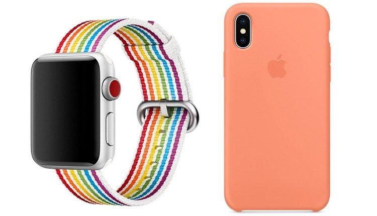 Pride Edition Apple Watch Armband und Pfirisch Silikon Case iPhone X