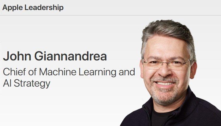 John Giannandrea jetzt bei Apple