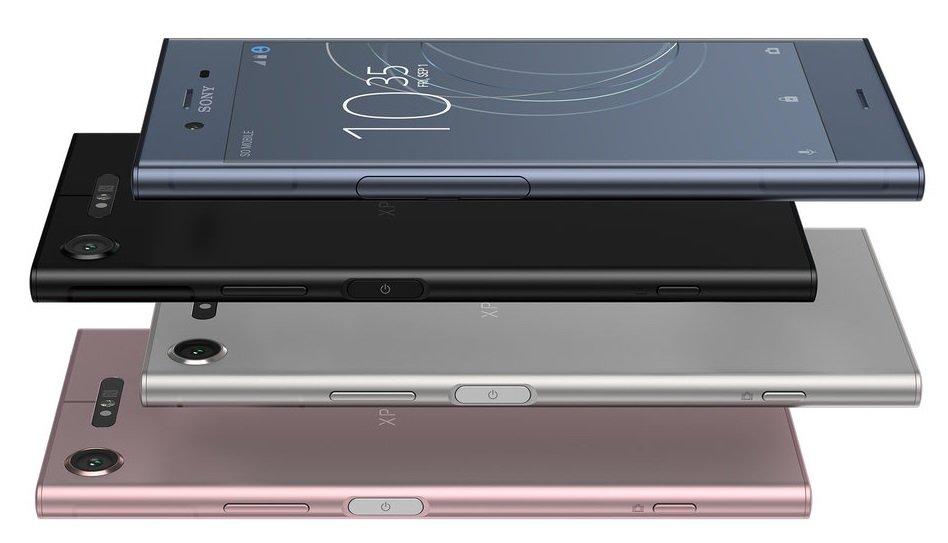 Sony Xperia XZ1 in vier Farben