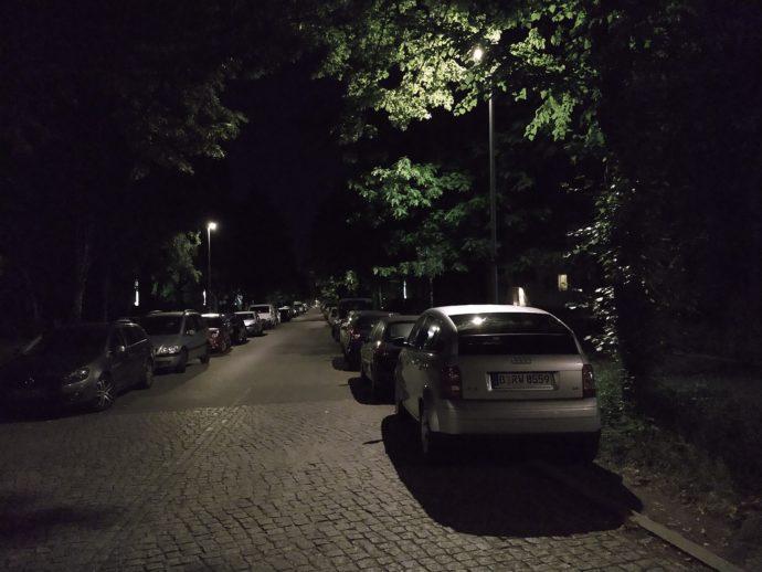 Moto Z3 Play: Aufnahme bei Nacht
