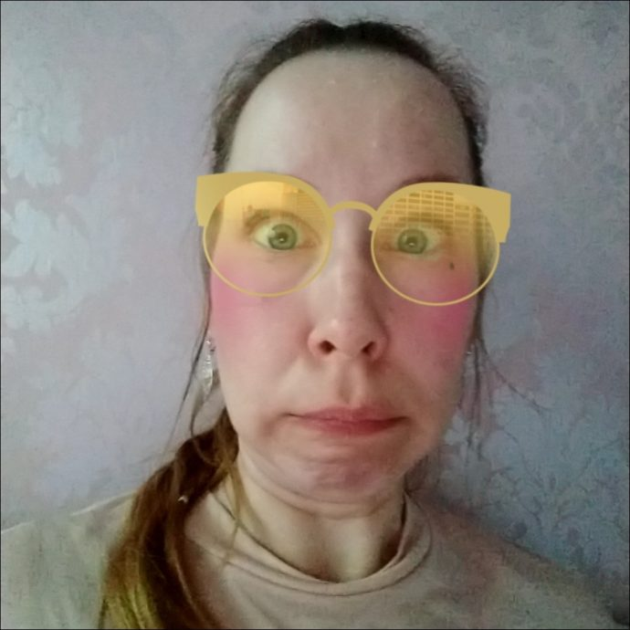 Foto-Filter Brille beim Moto Z3 Play