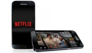 Netflix App auf einem Android-Gerät / Samsung Galaxy S7