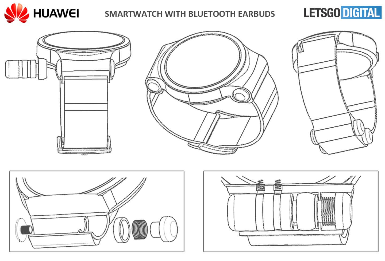 Huawei Watch 3 Smartwatch mit Kopfhörerfach