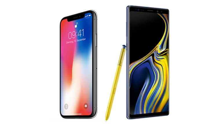 Apple iPhone X vs. Samsung Galaxy Note 9