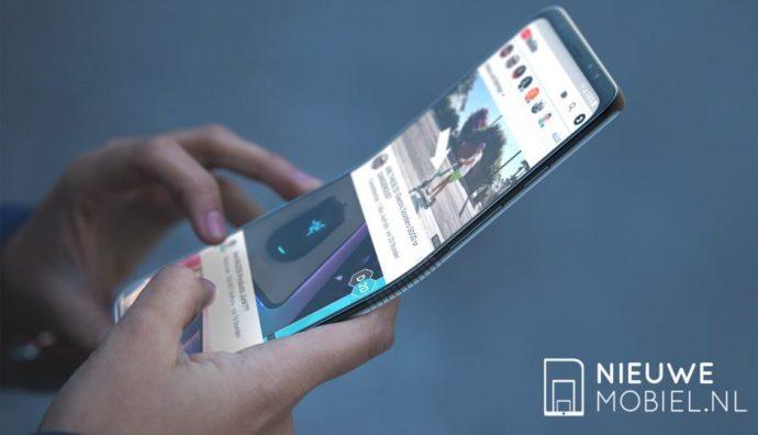 Render-Bild des Galaxy Fold in der Hand