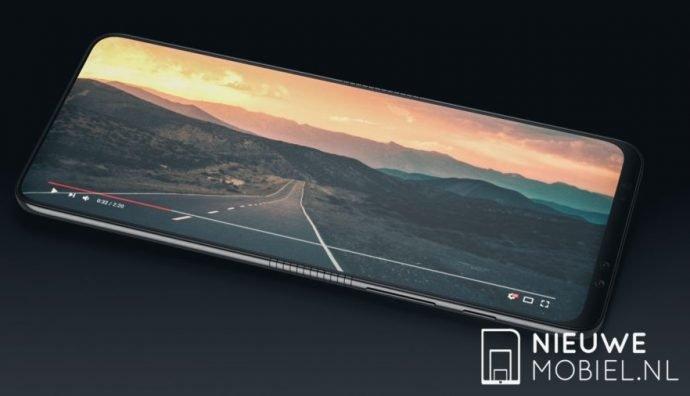 Render-Bild des Galaxy Fold mit ausgeklapptem Bildschirm