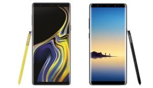 Galaxy Note 9 vs. Galaxy Note 8