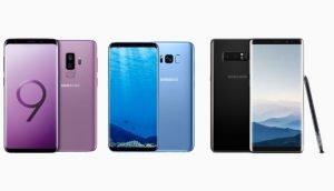 Samsung Galaxy S8, S9 und Note 8