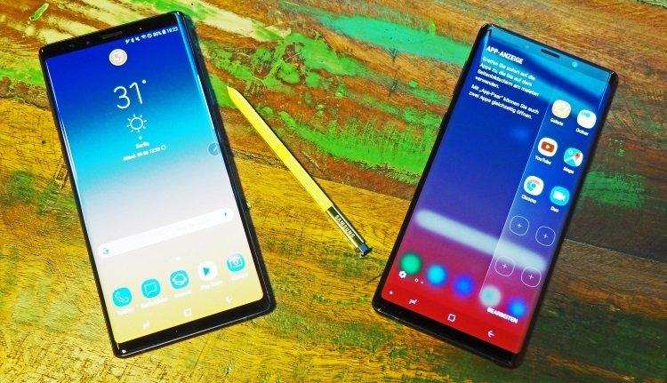 Edge-Display und S Pen beim Galaxy Note 9