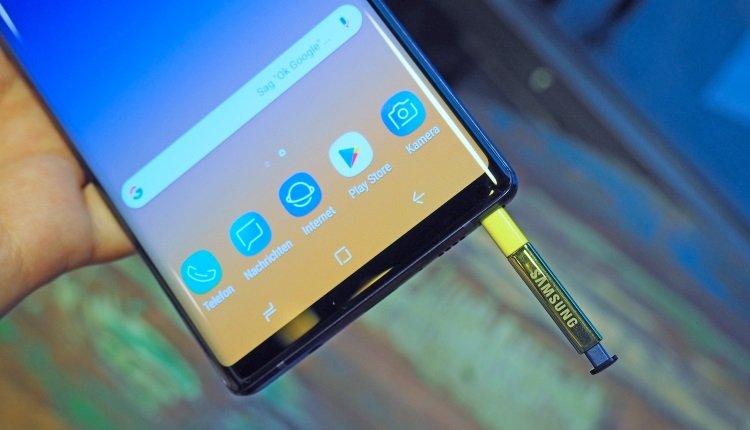 Der neue S Pen des Galaxy Note 9