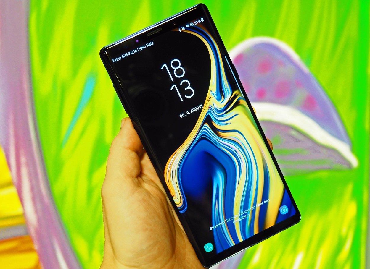 Galaxy Note 9 in der Hand