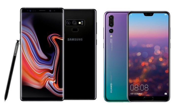 Galaxy Note 9 vs. Huawei P20 Pro