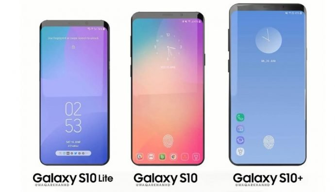 Three models of the Galaxy S10