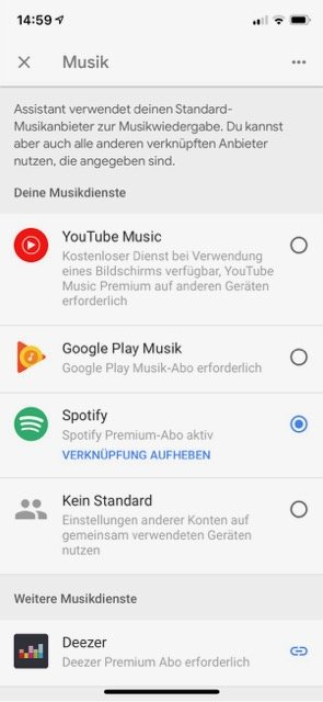 Google Home Max Musik-Streaming