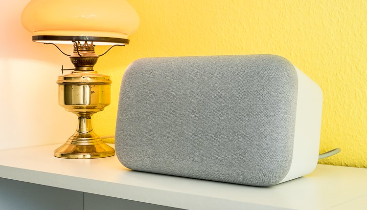 Google Home Max Test waagerecht