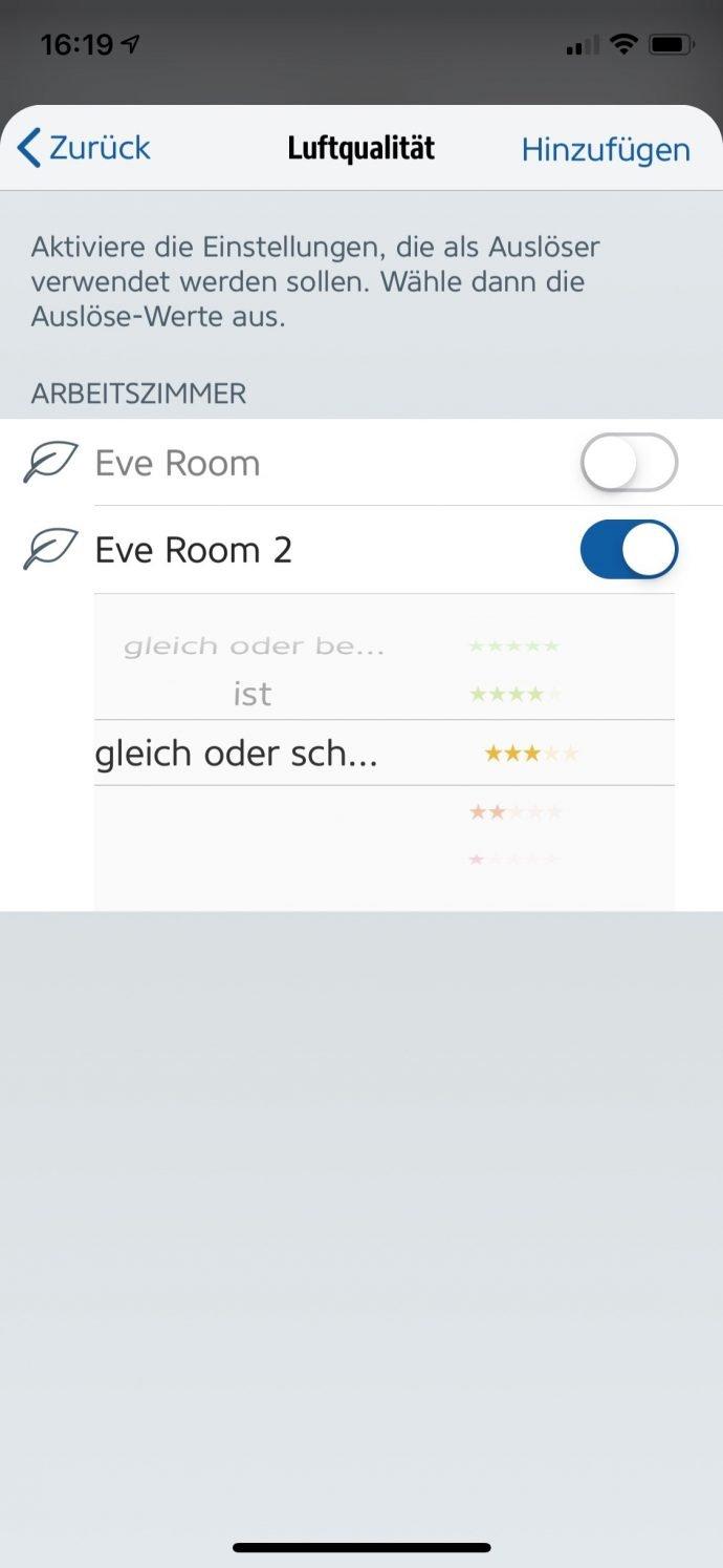 HomeKit-Automation Eve Room 2