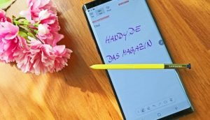 Notizen auf dem Galaxy Note 9