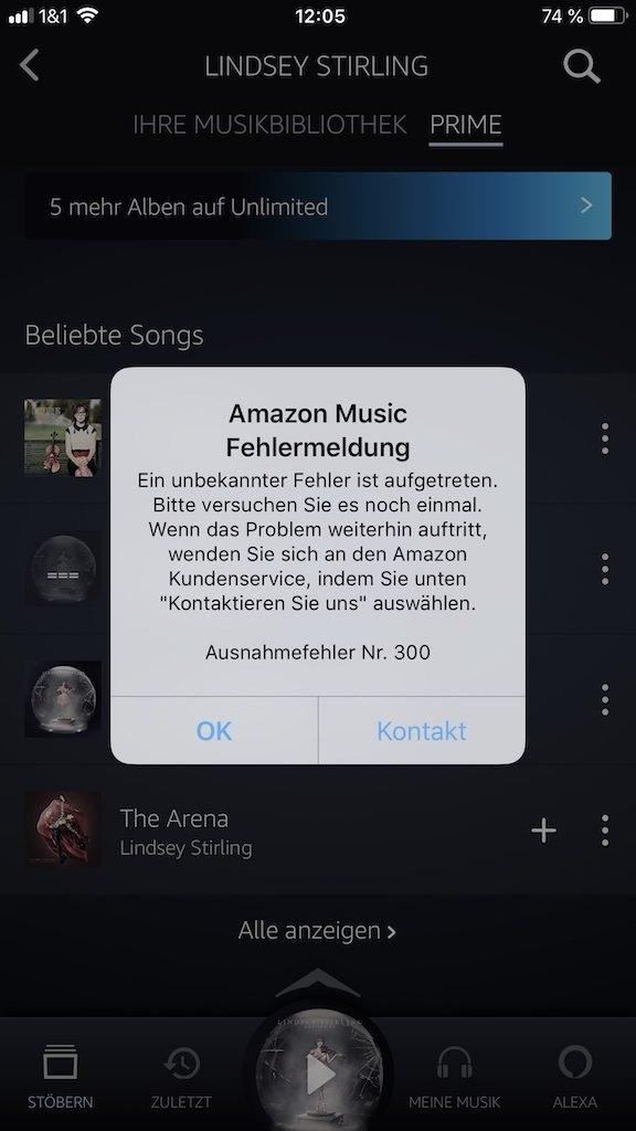 Amazon Störung