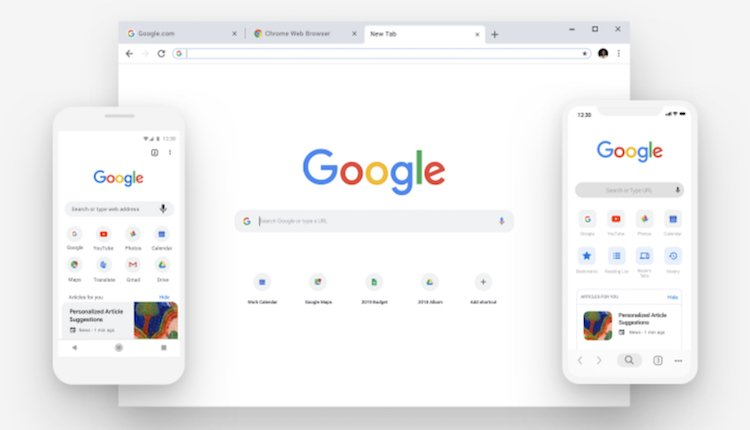 Google Chrome neues Design