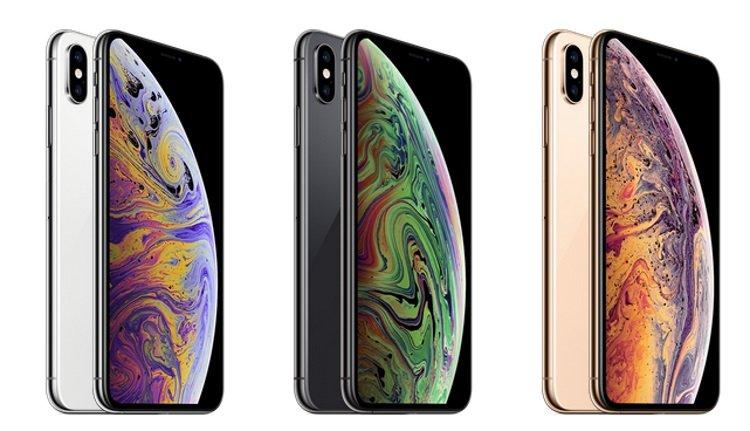 Verschiedene Farben des Apple iPhone Xs